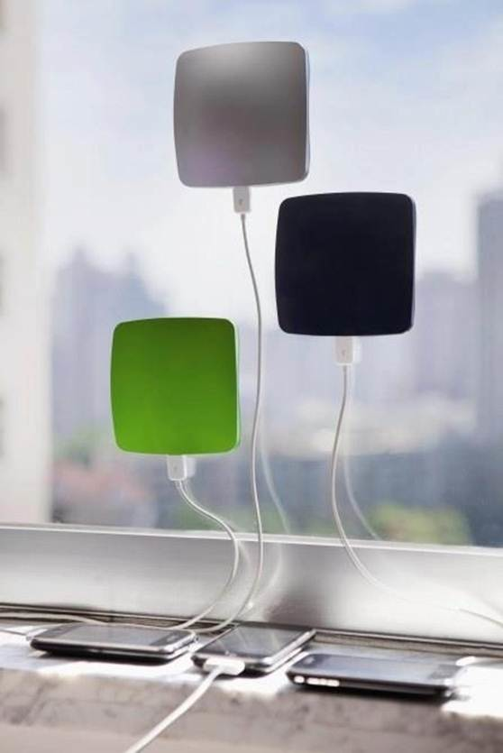 11.) Solar powered iPhone chargers.
